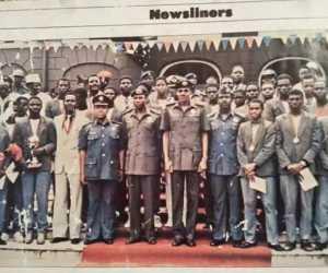 President Buhari Pictured With 1985 U-16 Squad